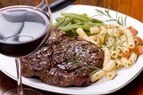 Fototapety rib eye steak dinner 5
