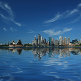 Fototapety sydney city reflections