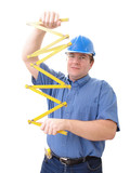 civil engineer with yellow rule poster