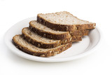whole wheat bread on a plate poster