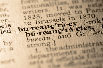 the word bureaucracy
