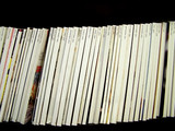 blank magazine spines - with dates poster
