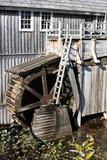 exterior of mcdonald bros sawmill, sherbrook, nova scotia, canad poster