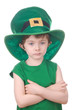 leprechaun boy isolated on white