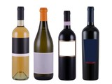 bottles of wine with blank label poster
