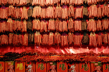 chinese wax dried sausage