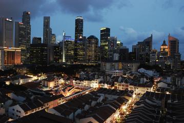 singapore cityscape at dusk