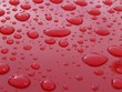 water drops on the red surface