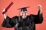 graduation a young man poster