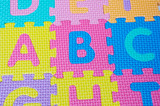 letters of colors of the alphabet poster