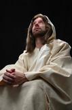 jesus portrait in prayer poster