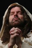 portrait of jesus in prayer poster