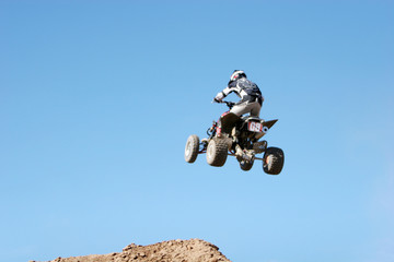 extreme sports - atv jumping in the air