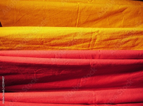 yellow orange indian red fabric