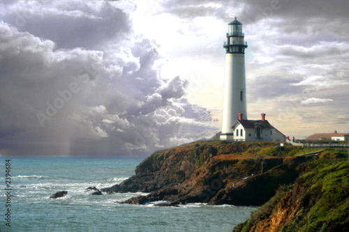 Leinwanddruck Bild pigeon lighthouse