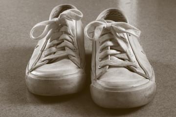 white sneakers duotone