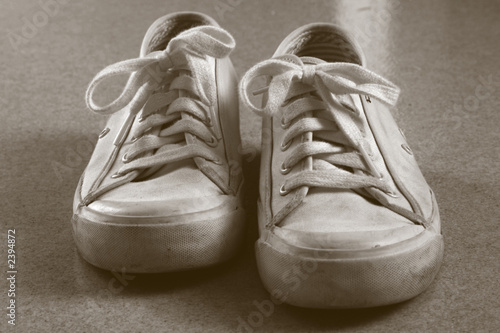 white sneakers duotone