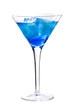 Royalty-Free Stock Photo: Cocktail with blue curacao.