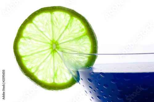 Stock Photo - Cocktails with blue curacao isolated on white background.