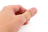 finger and bandage poster
