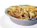chinese food carryout - chicken lo mein poster