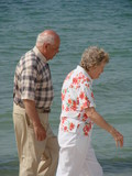strolling seniors poster