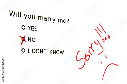 Nein zum Heiratsantrag