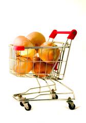 big onions in shopping cart
