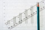 graph pencil line scale poster