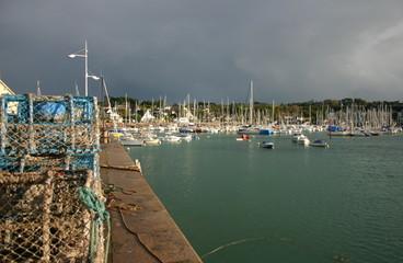 port sous l'orage