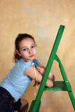green step-ladder poster