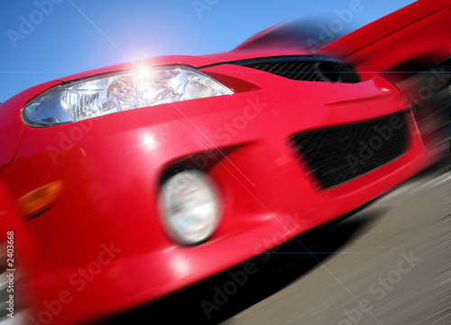 Foto op Canvas Snelle auto s zooming mazda