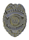 internet security badge silver poster