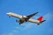boeing 757 jet airplane in flight