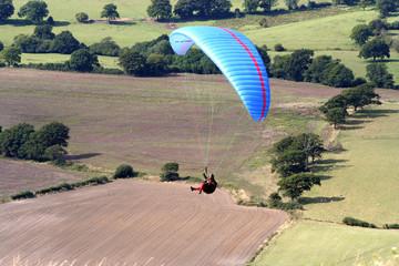 paraglider in flight.