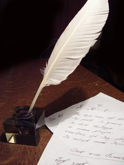 pen and manuscript