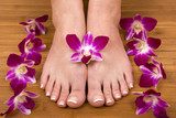 feet and orchids poster