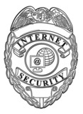 internet security badge white poster