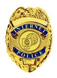 internet police badge gold poster