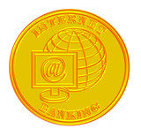 internet banking medallion gold poster