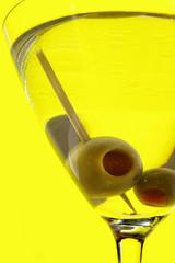 martini on yellow