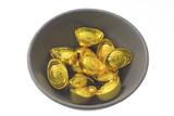 bowl of gold ingots poster