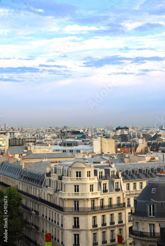 poster of paris rooftops