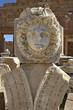 """""""la méduse"""" du forum romain de lepcis-magna"""