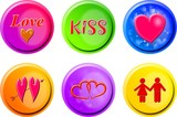 love buttons poster