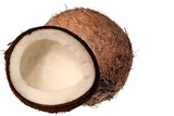 coconut whole and splitted poster