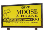 warning sign for moose crossing poster
