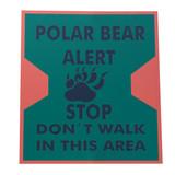 warning sign polar bear alert poster