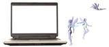 laptop fairies poster