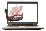 laptop viking poster